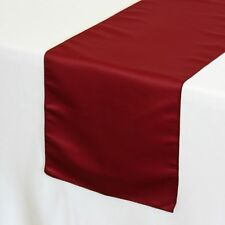 14 x 108 inch L'amour Satin Table Runners Dark Red
