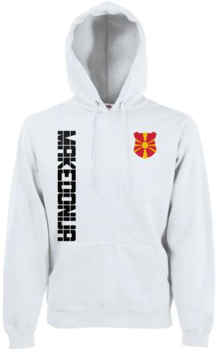 Macedonia Makedonija Hoody con cappuccio Pullover Maglia con NOME /& NUMERO S M L XL X