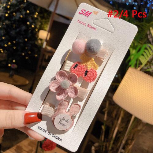 Baby Headwear Cute Hair Clips Accessories Princess Children Hair Clip 4Pcs//set
