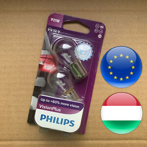 2-pcs-382-P21W-Philips-VisionPlus-60-brake-tail-bulb-brighter-white-12498VPB2