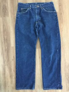 Vintage-1970s-Lee-Denim-Riders-Jeans-Talon-Zip-Marked-34x30-Actual-32x29