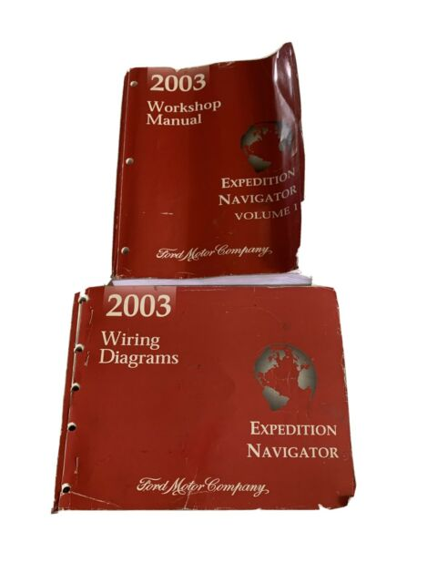 2003 Ford Expedition Navigator Volume 1 Only Manual Set W