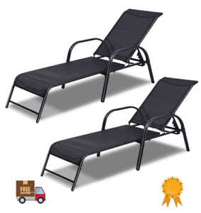 Set of 2 Outdoor Beach park yard Zero Gravity Lounge Chairs Recliner Patio Pool