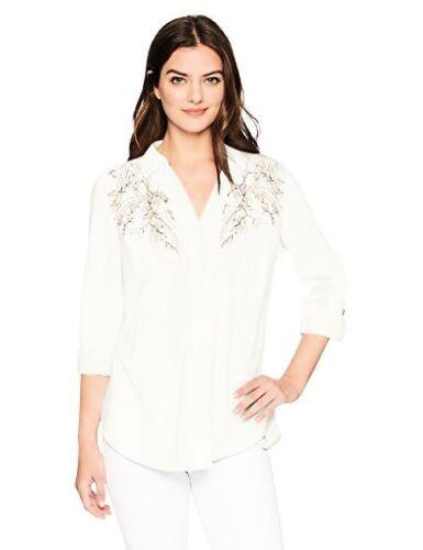 Haut femme Bandolino Franny pull sur chemise avec des Manches Roulées-Sélectionnez La Taille//couleur.