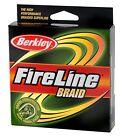 Berkley FIRELINE BRAID 30-80LB/110YDS Fishing Line Moss Green (Choose LB)