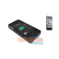 FUNDA CARCASA BATERIA + 2 PROTECTORES IPHONE 4G G 4S S FUNDA CARGADOR 1900 mAh