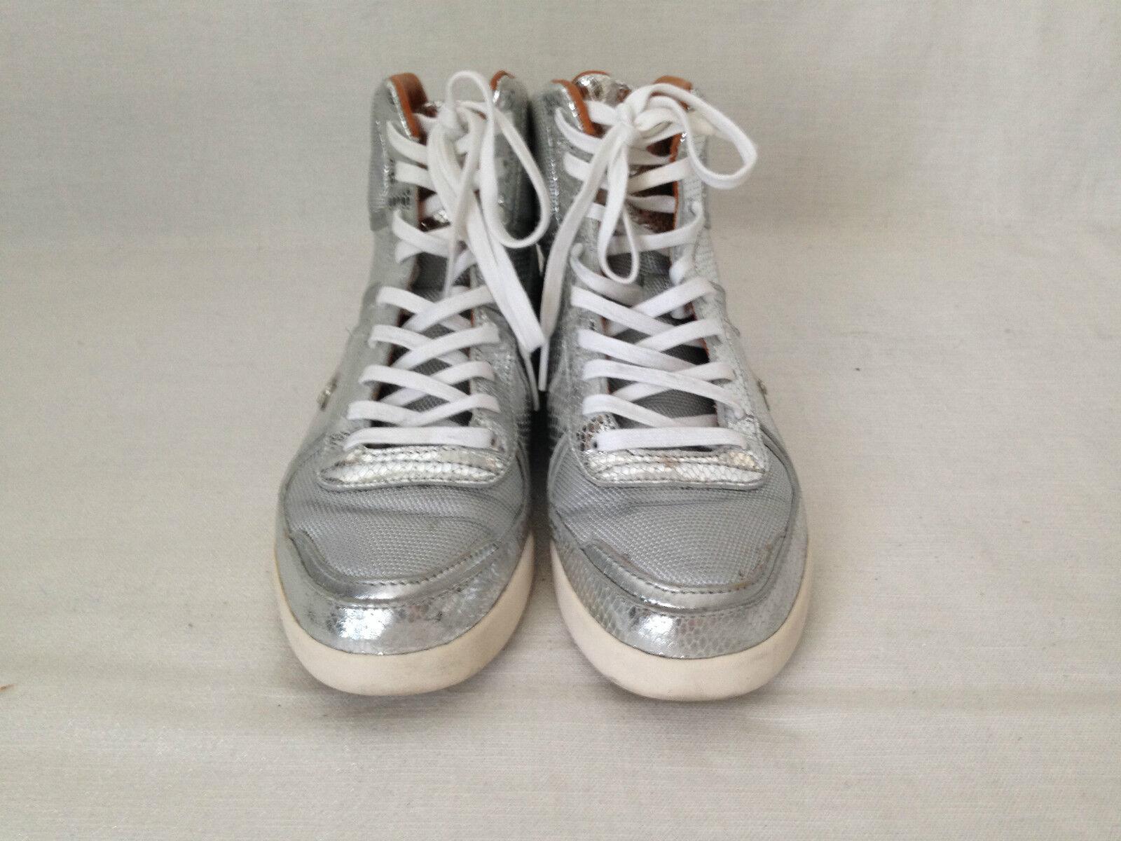 Unisex Creative Recreation Metallic Silver 9 Snakeskin, leather lining Hightops. 9 Silver 30517e
