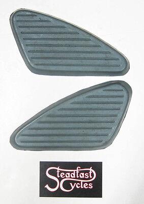 BSA C15 B40 A65 A50 Knee Pads Black UK MADE kneepads 500 650 441 /& 250