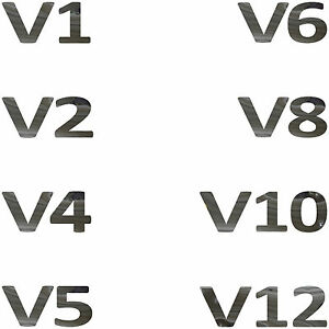 V4 v5 v6 v8 v10 Chrome Tattoo Sticker Die Cut Film Car Rear Tuning Decor Film