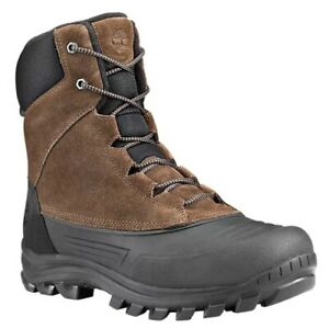 TIMBERLAND-A23NN-SNOW-BLADES-MEN-039-S-BROWN-BLACK-WATERPROOF-INSULATED-BOOTS