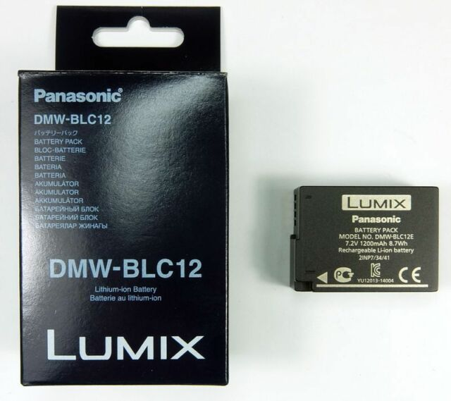 PANASONIC DMW-BLC12E BATTERIE POUR FZ200/FZ300/FZ1000/FZ2000/G7/GX8/G80