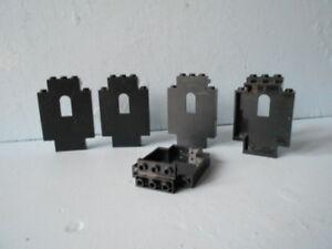 Lego-5-demi-Mur-de-chateau-gris-avec-ouverture