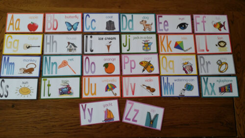 Alphabet Letters Great size small hands First learning Flash cards- EYFS