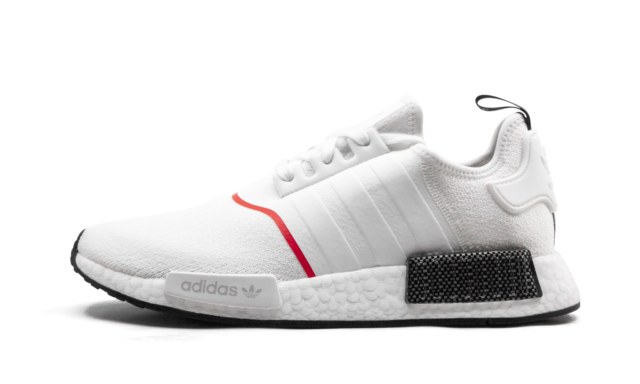Size 8 - adidas NMD R1 White Solar Red