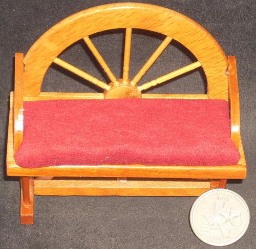 Wagon Wheel Bench 1:12 #3491 Dollhouse Mini Pillow Only Burgundy Red