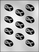 Awareness Ribbon Oval Chocolate Candy Mold From Ck 9097 -
