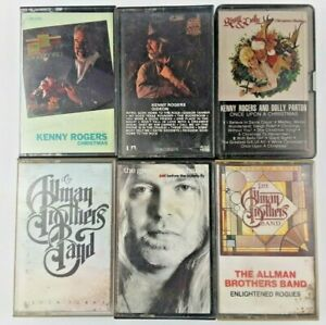Lot-of-6-Country-Music-Cassette-Tapes-Allman-Brothers-amp-Kenny-Rogers