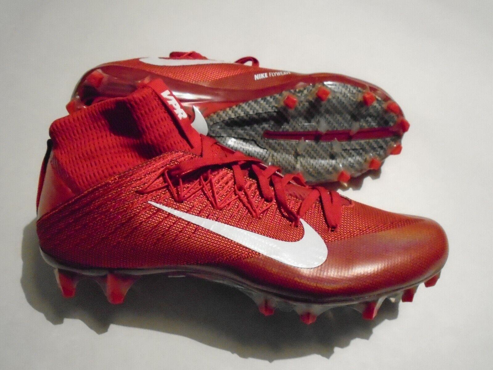 New Nike Vapor Untouchable 2 Men's 10 University Red Football Cleats 824470 616