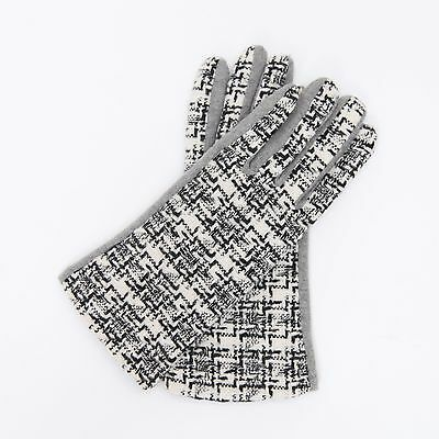 Women's Fall Winter Smart Phone Touch Screen Grey Weave Pattern Texting Gloves