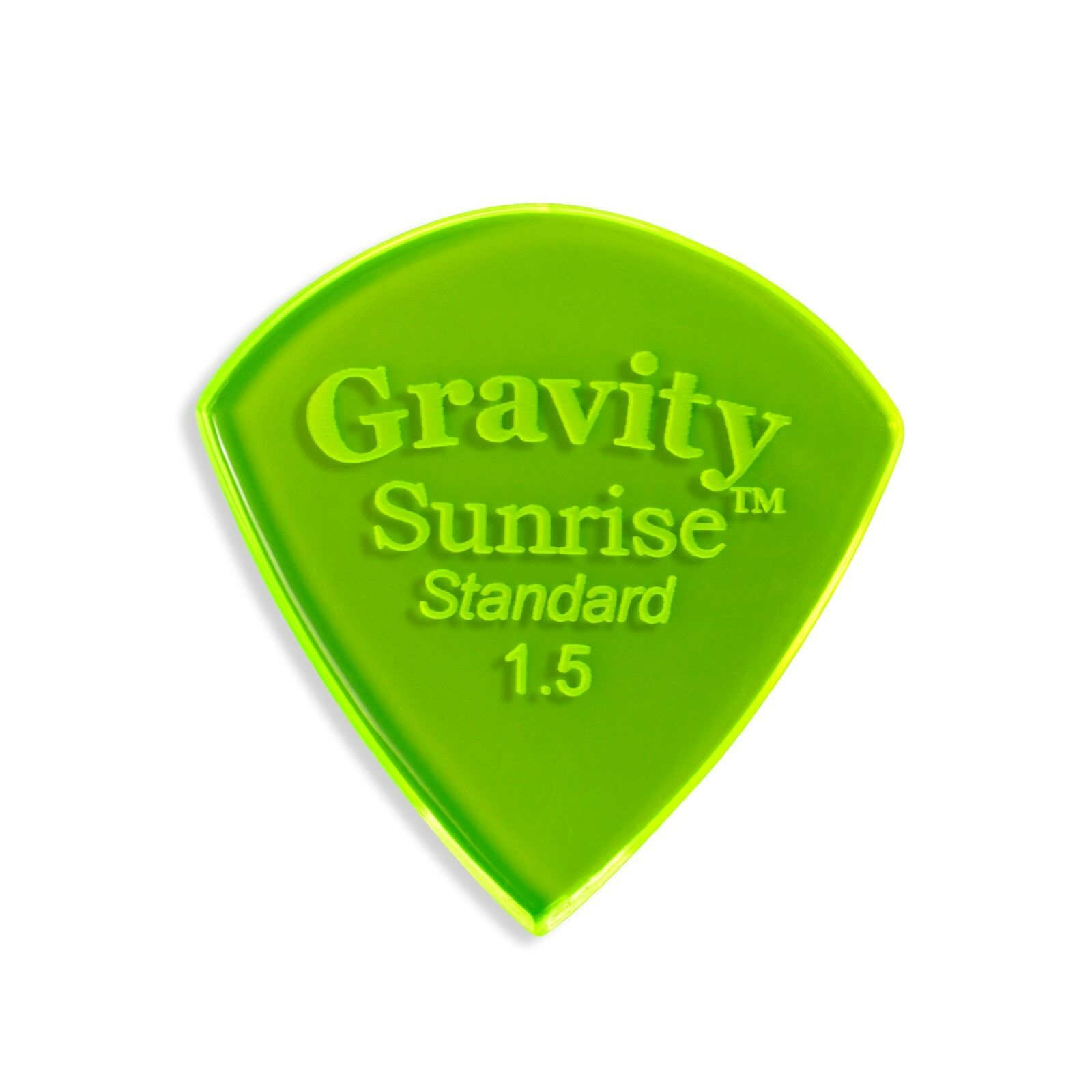 Gravity Pick - Sunrise 1.5mm Standard Polished - Two pack - Lot of TEN  2-packs