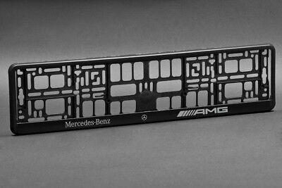 2 X Mercedes Amg Euro License Number Plate Frame Holder Ebay