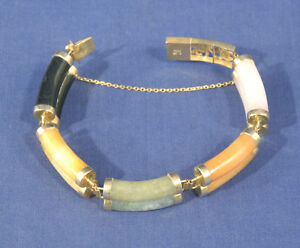 Image Is Loading 14k Yellow Gold Heavy Double Bar Link Multi