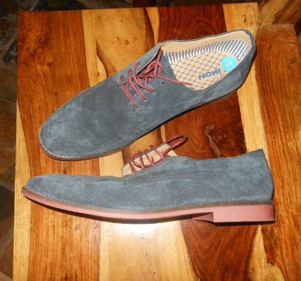Ikon Mens Suede Lace Shoe Navy Size UK 8