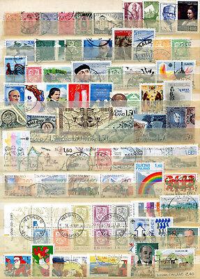 40404 Gehorsam Lot / Sammlung Finnland O Kw 95,-- € Aus 1875-1990