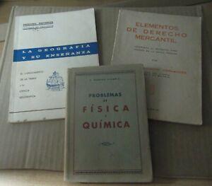 Lote-de-tres-antiguos-libros-Geografia-Derecho-Mercantil-fisica-Quimica