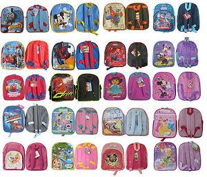 Kids-Hero-Spiderman-chuggington-Mickey-Thomas-Cars-backpack-rucksack-school-bag