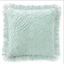 Shabby-Vintage-Chic-Mint-Chenille-Euro-Large-Square-Bed-Pillowcases-NEW thumbnail 5