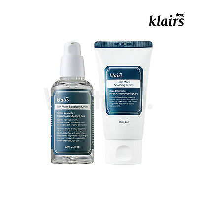 KLAIRS Rich Moist Soothing Line/ Soothing Cream + Soothing Serum sensitive skin