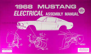 1968 Ford Mustang Electrical Assembly Manual Wiring Diagrams Factory Schematics Ebay