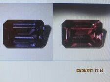 18.5 ct 17 x 12 mm (EMERALD CUT) SAPPHIRE PENDENT COLOR SHIFT LT.PURPLE TO RED