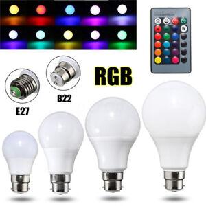3-5-10-20W-E27-B22-RGB-16-Color-Changing-LED-Light-Lamp-Bulb-IR-Remote-Control
