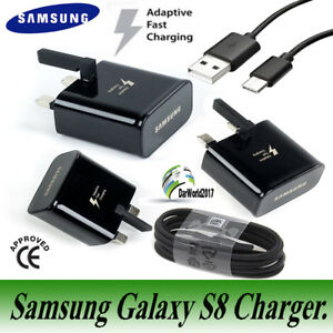 GENUINE-FAST-CHARGER-PLUG-amp-TYPE-C-USB-CABLE-FOR-SAMSUNG-GALAXY-S8-S9-PLUS-A3-A5