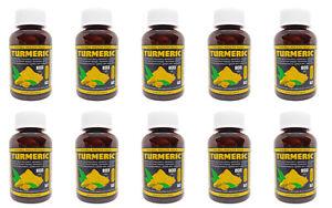 PURO Organico radice di curcuma 800mg x 60 Tappi per Bottiglia, vegetariana, Vegan
