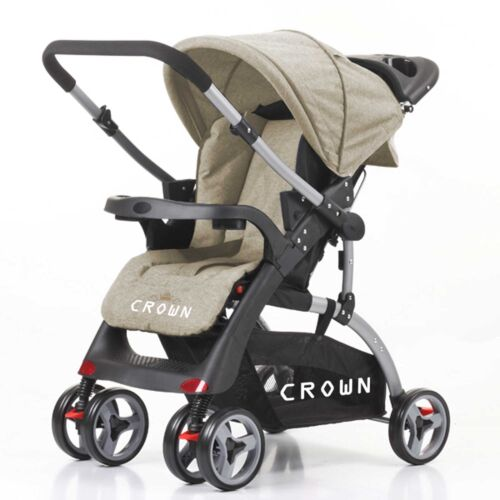 CROWN Kinderwagen Buggy DUAL WAY 2 RICHTUNGEN FAHRBARER Sportwagen 6 Rad 360°
