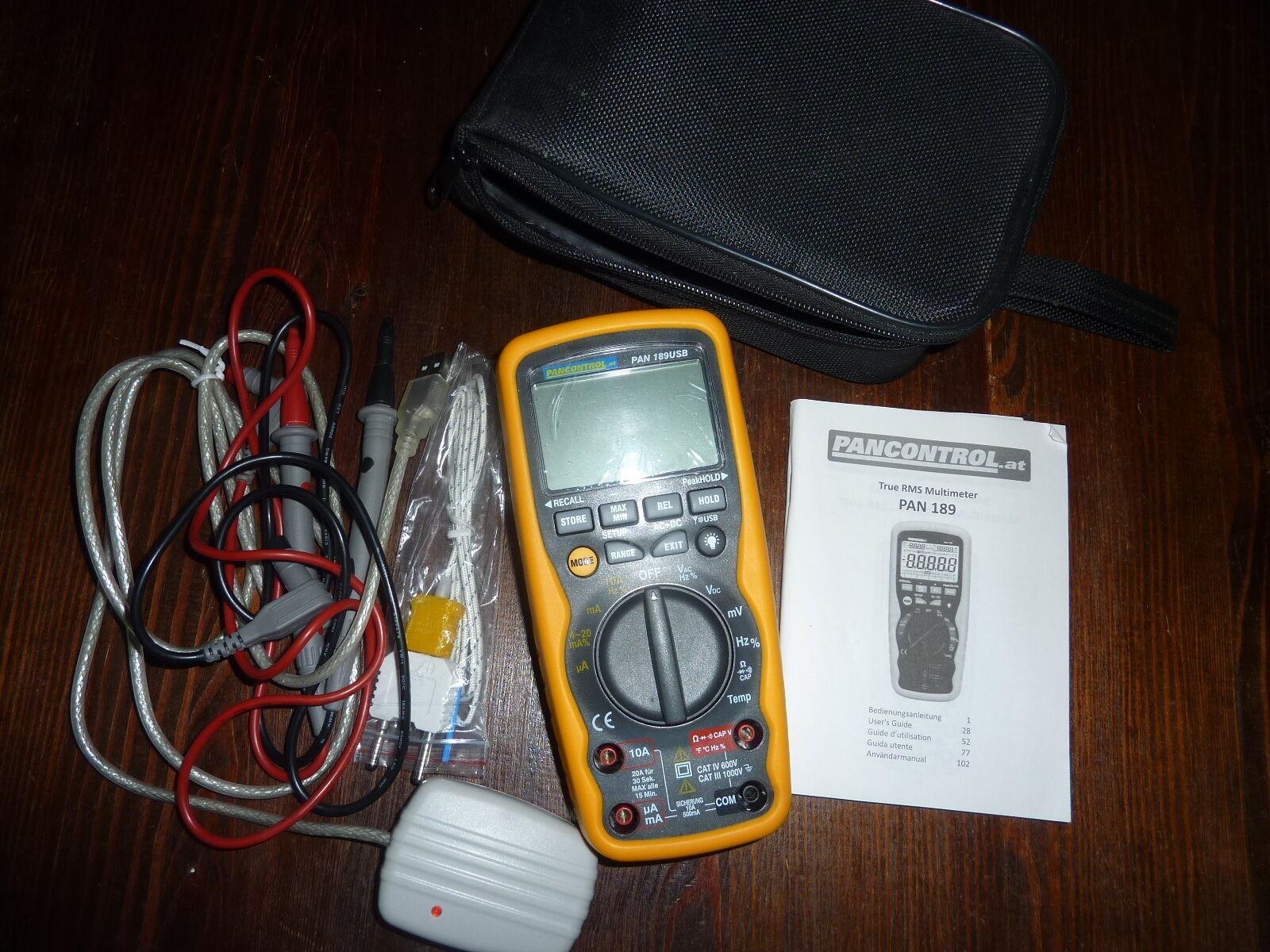 Pancontrol Digitalmultimeter, PAN 189 Messgerät