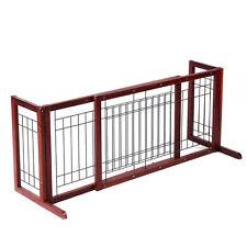 Adjustable Indoor Solid Wood Construction Pet Fence Gate Free Standing Dog Gate