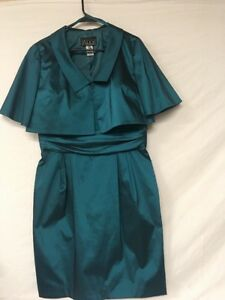 Alex-Evenings-Teal-Dress-w-Jacket-2PC-Evening-Set-Party-NYE-Sexy-Cocktail