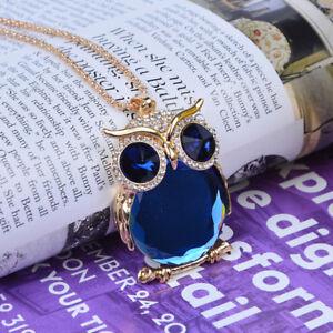 Jewelry-Pendant-Set-Trendy-Sweater-Chain-Owl-Drill-Necklace-Rhinestone-Women