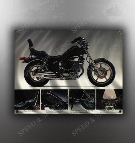 VINTAGE YAMAHA VIRAGO 1100 MOTORCYCLE BANNER