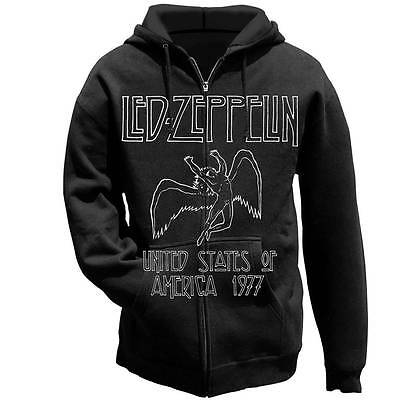 LED ZEPPELIN USA 1977 Tour  Hoodie Swan song OFFICIAL Small NEW