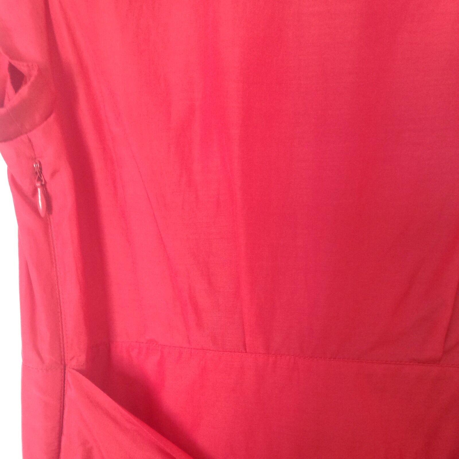 LADIES 'TEDBAKER' 'TEDBAKER' 'TEDBAKER' BRAND NEW PINK SILK FRILL DRESS. SIZE 8  TEDBAKER SIZE 1. 66f84a