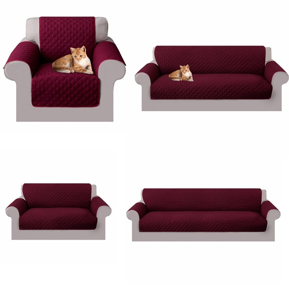 Reversible Sofa Couch Cover Removable Towel Armrest Sofa Sli