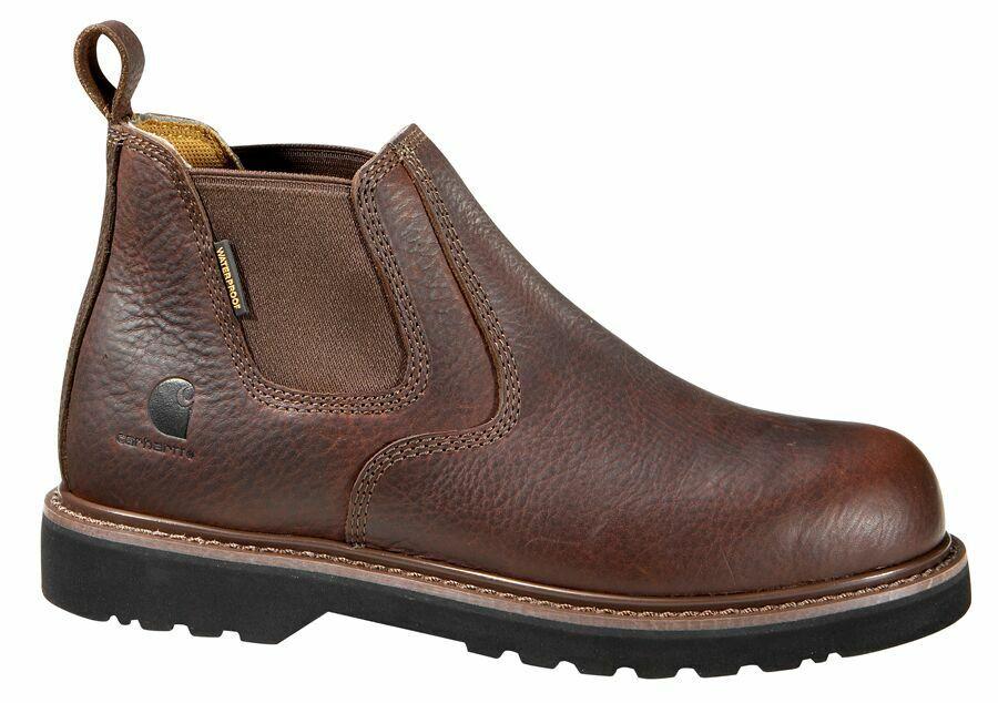 Carhartt CMS4200 Men's 4  Steel Toe Slip On Boots Waterproof Leather Work shoes