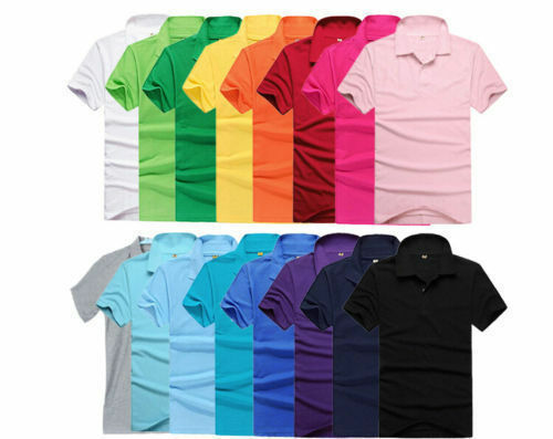 Stylish Men's Cotton Short Sleeve Slim Fit Polo Shirt T-Shirts Casual Shirts FTS