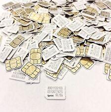 (Lot of 100) Sprint NANO Sim Card SIMGLW446C/63.10a SPRINT, VIRGIN, BOOST MOBILE