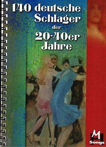 Keyboard-Noten-140-deutsche-Schlager-20er-40er-Jahre-leichte-Mittelstufe